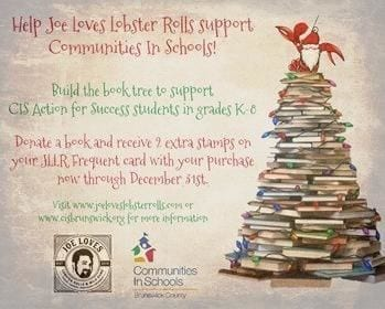 CIS and Joe Loves Lobster Rolls team up for holiday book drive